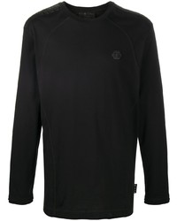 T-shirt à manche longue noir Philipp Plein