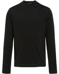 T-shirt à manche longue noir Prada