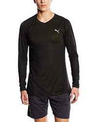 T-shirt à manche longue noir Puma