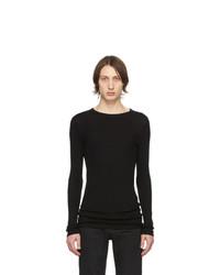 T-shirt à manche longue noir Saint Laurent