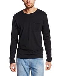 T-shirt à manche longue noir Selected