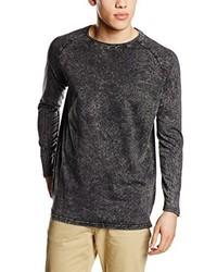 T-shirt à manche longue noir Solid