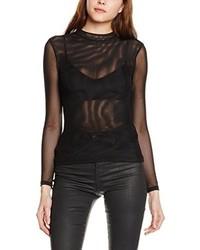 T-shirt à manche longue noir Tally Weijl