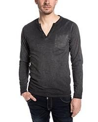 T-shirt à manche longue noir Timezone