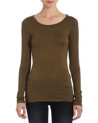 T-shirt à manche longue olive