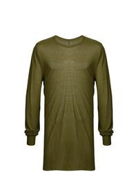 T-shirt à manche longue olive Rick Owens