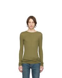 T-shirt à manche longue olive Saint Laurent