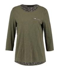 T-shirt à manche longue olive Vero Moda