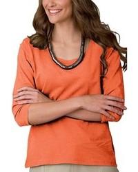 T shirt a manche longue orange original 1286151