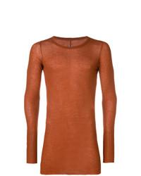 T-shirt à manche longue orange Rick Owens