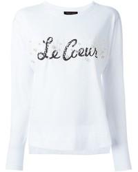 T-shirt à manche longue orné blanc