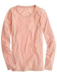 T-shirt à manche longue rose