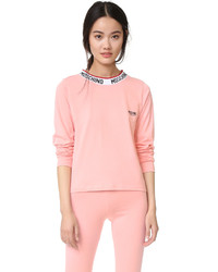 T-shirt à manche longue rose Moschino