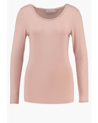 T-shirt à manche longue rose Noa Noa