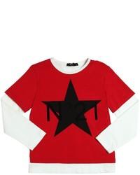 T-shirt à manche longue rouge
