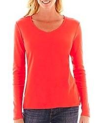 T shirt a manche longue rouge original 1284927