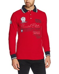 T-shirt à manche longue rouge Geographical Norway