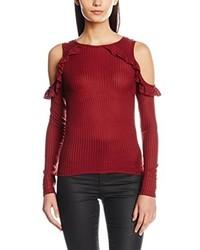T-shirt à manche longue rouge Miss Selfridge
