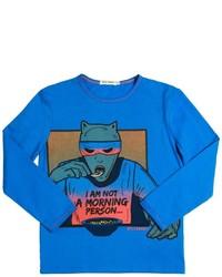 T-shirt à manche longue turquoise