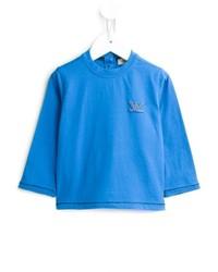 T-shirt à manche longue turquoise Armani Junior
