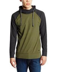 T-shirt à manche longue vert foncé Esprit