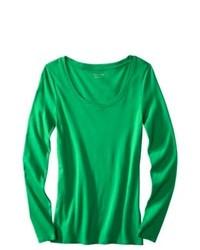 T-shirt à manche longue vert