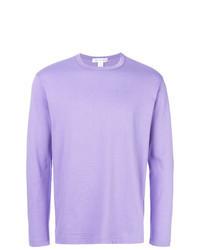 T-shirt à manche longue violet clair