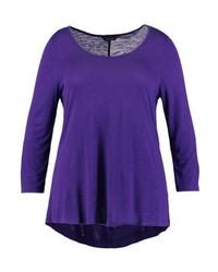 T-shirt à manche longue violet Evans