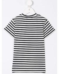T-shirt à rayures horizontales blanc et noir