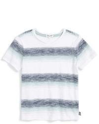 T-shirt à rayures horizontales blanc