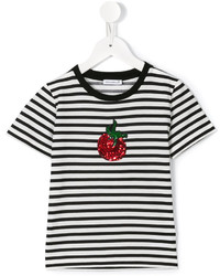 T-shirt à rayures horizontales blanc Dolce & Gabbana