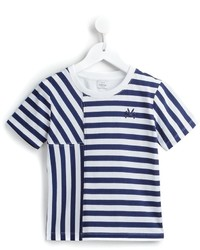 T-shirt à rayures horizontales bleu marine No Added Sugar