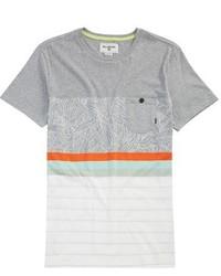 T-shirt à rayures horizontales gris