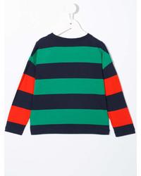 T-shirt à rayures horizontales vert Stella McCartney