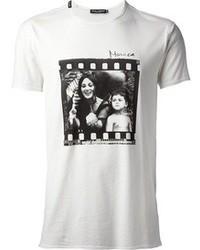 T-shirt blanc et noir