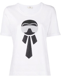 T-shirt blanc Fendi