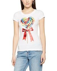 T-shirt blanc Moschino
