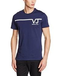 T-shirt bleu marine Versace