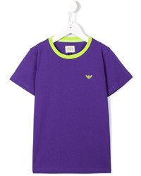 T-shirt bleu Armani Junior