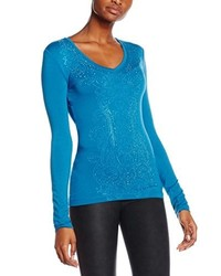 T-shirt bleu Versace