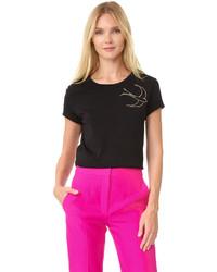 T-shirt brodé noir Nina Ricci