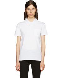T-shirt en dentelle blanc Miu Miu