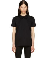 T-shirt en dentelle noir Miu Miu