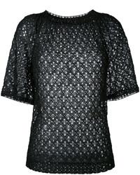 T-shirt en tricot noir Missoni