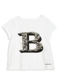 T-shirt imprimé blanc et noir
