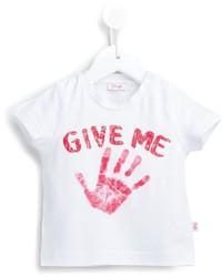 T-shirt imprimé blanc Il Gufo