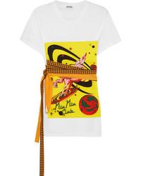 T-shirt imprimé blanc Miu Miu