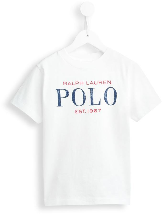 T-shirt imprimé blanc Ralph Lauren