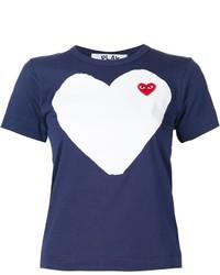 T-shirt imprimé bleu marine Comme des Garcons