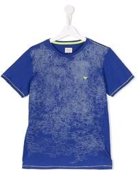 T-shirt imprimé bleu Armani Junior